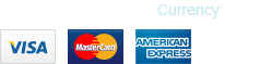 We accept Visa, Mastercard, American Express, and PayPal